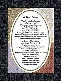 Vintage A True Friend, Poem About True Friendship, 7x9 77933CH
