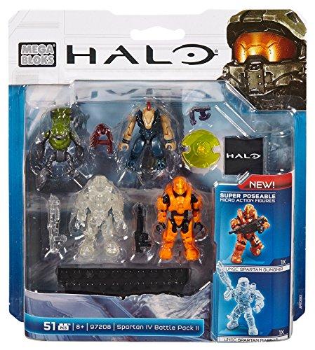 Mega Bloks 97208 - Halo Spartan 4 Battle Pack, Konstruktionsspielzeug