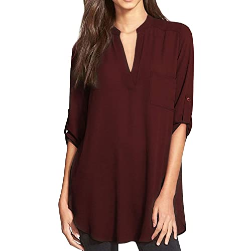Plus Size Burgundy Shirts Amazon Com