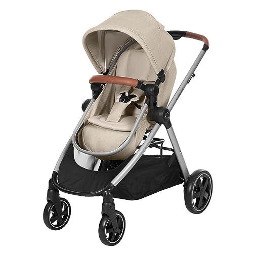 Bébé Confort ZELIA Nomad Sand - Cochecito urbano 2 en 1, diseño compacto