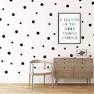 Dot Wall Decals, H2MTOOL 320 PCS Black Circle Wall Stickers for Kids Room Decor (Black, 320 pcs)