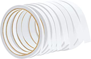 Elcoho 16 rollos de cinta adhesiva de doble cara blanca para álbumes de recortes, proyectos de manualidades, tarjetas, suministros de papelería para la escuela de oficina