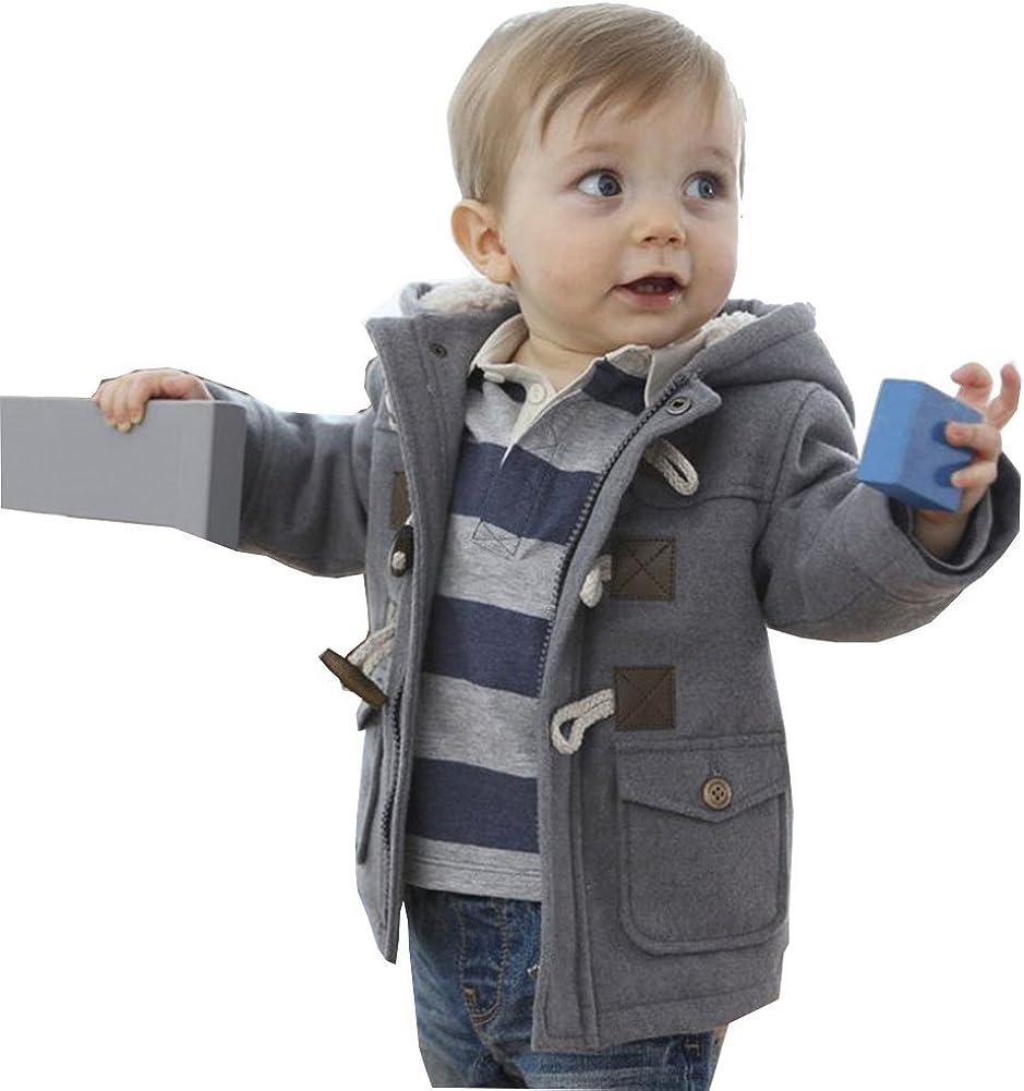 MissChild Baby Kinder Jungen Wintermantel mit Kapuze Steppjacke Winter Herbst Hooded Oberbekleidung Warm Fleece Duffle Mantel