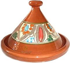 Style Marocain Blanc Tajine Grand 28cm Tajine en Forme de Pyramide Plaque de Cuisson Coffre-Fort