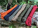 Ravenox MILSPEC 550 Paracord | Genuine MIL-C-5040H Type III 550 Cord | (Camo Green)(50 Feet) | 7-Strand Twisted Core| 100% Nylon Braided Rope | Military Parachute Cordage | Made in The USA