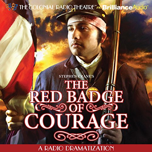 Stephen Crane's The Red Badge of Courage audiobook cover art
