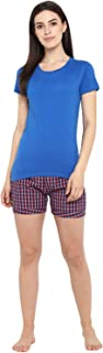 Curare Womens Multicolour Checkered Shorts (Pack of 1)