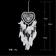 Gotian 60cm/23.62in Handmade Dream Catcher Feathers Owl Wall Car Hanging Decoration Girls Room Home Ornament