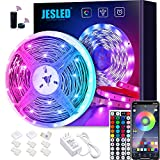 WiFi LED Lights Strip for Bedroom 5m, JESLED 5050 RGB LED Rope Lights