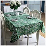WSJIABIN Home Decoration Cotton Thick Canvas Bamboo Leaf Printing Restaurant Hotel Home Coffee Table Table Cloth Table Cloth
