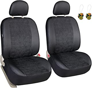 Leader Accessories Universal 2pcs Low Back Front Seat Covers Set with Headrest Covers for Car SUV Truck Airbag Ready