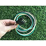 807 4 pin Flat/Square Trailer Connector,Trailer Side 4-Way Trailer Wiring Harness with 12-Inch Wires, 4-Pin Trailer Wiring(4 Way Flat Plug)