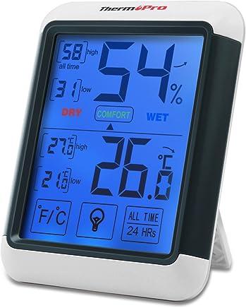 ThermoPro TP55 Termometro Igrometro Digitale da Interno, Misuratore di Umidità e Temperatura Ambiente/Termoigrometro Professionale con Display LCD, Memoria Massima/Minima, Monitor di Comfort Casa