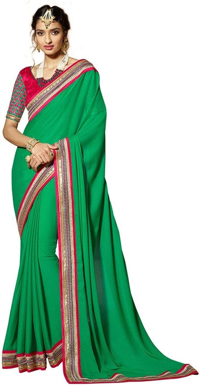 DesiButik's Divine Green Crepe Jacquard Saree