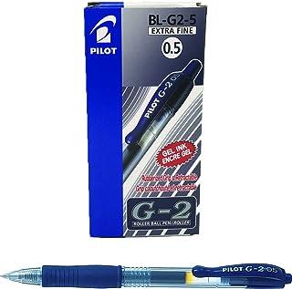 Pilot G2 Retractable Gel Pen, 0.5mm, Black-Blue, Dozen Box