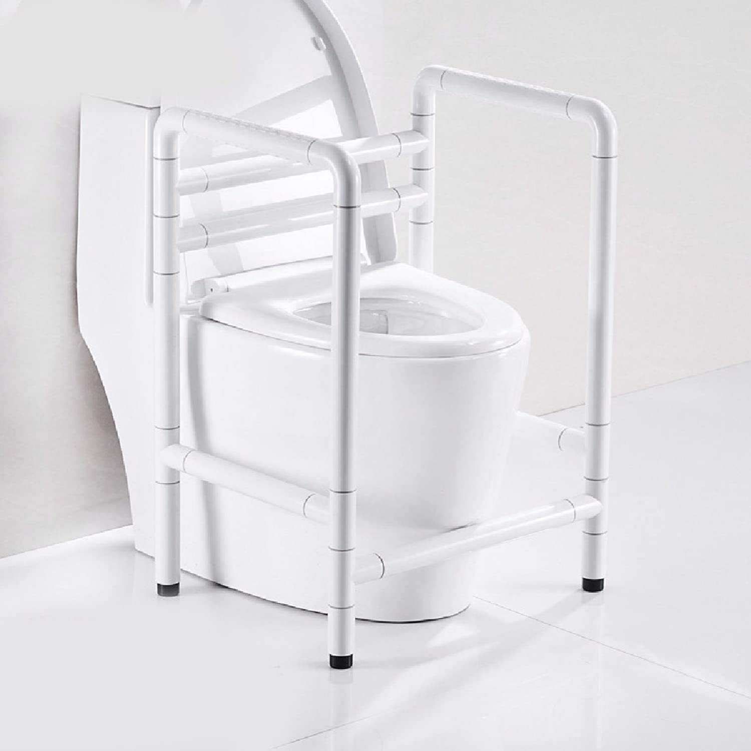 WAWZJ Handrail Toilets Booster Shelves Stainless Steel Safety Pregnant Women with Disabilities Starting from The Toilet Handrails,White