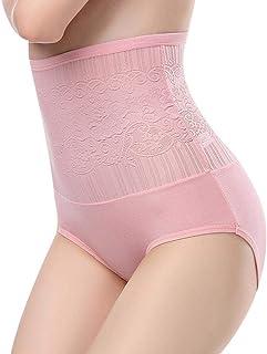 20ec4751f Fanxis Women Cotton Soft Comfortable High Waist Shapewear Tummy Control  Breathable Stretch Briefs Slimming Panties