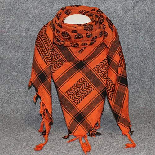 Superfreak Palituch - Totenköpfe klein orange - schwarz - 100x100 cm - Pali Palästinenser Arafat Tuch - 100{385b527c3488861a12fbadf759d2c8669f069ba5e964b7756c66d06fdb89b49e} Baumwolle