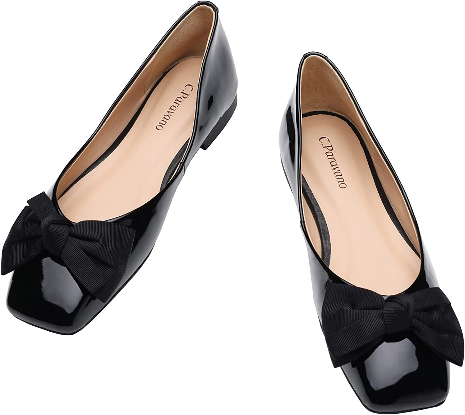 History of Victorian Boots & Shoes for Women C.PARAVANO Womens Flats I Square Toe Shoes for Women I Black Flats I Womens Flat Shoes I Flat Shoes Women I Womens Patent Leather Shoes I Leather Flats for Women  AT vintagedancer.com