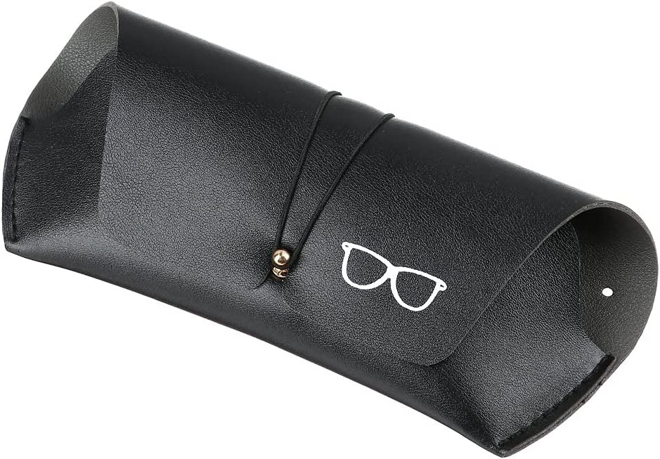 QONBV Unisex Fashion PU Leather Glasses Bag Protective Case Cover Portable Sunglasses Case Box Reading Eyeglasses Box (Color : G, Size : 18cm)