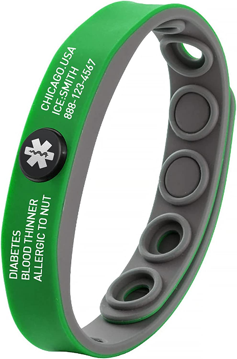 Custom Medical Alert ID Bracelet For Max 90% OFF Men Si Free All stores are sold Women Engraving