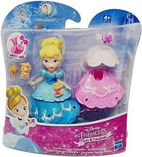 Princesas de Moda de Disney Little Kingdom con Vestidos y Accesorios, Juego de Figuras para niños para Jugar y coleccionar (Cenicienta)