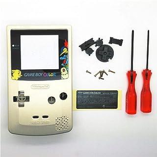Boîtier de remplacement complet avec boutons et vis pour Nintendo Gameboy Couleur GBC-Gold