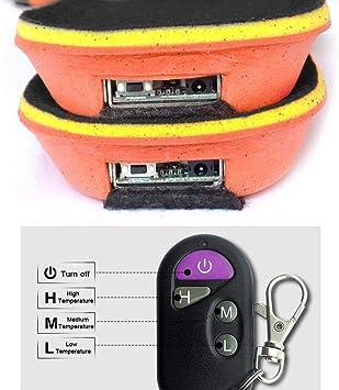 le travail 35-40 pour les aventures dhiver comme la chasse le ski Aiboria Semelles chauffantes rechargeables par USB pour hommes et femmes lavables