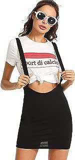 Romwe - Falda para Mujer, Estilo Casual, Ajuste Delgado, elástica, Mini Bodycon
