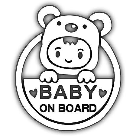 baby on Board Cutest Creature on board White Funny Decal Bumper Sticker Transfer