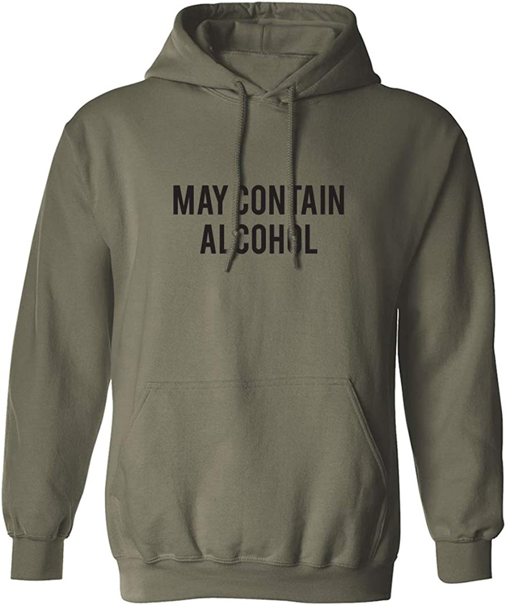 May Contain Alcohol Adult Hooded Sweatshirt