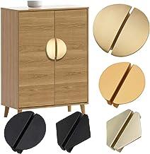 Gouden halfronde handgreep Dressoir kast schoenenkast kastdeur handgreep zwarte ronde driehoek meubelgreep-Ivoor