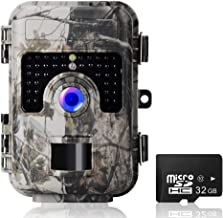 """Trail Game Camera, UncleHu 16MP 1080P Hunting Camera with Night Vision Motion Activated Waterproof, Trail Cam 2.4"""" LCD Screen with 32G SD Card for Wildlife Animal Scouting Surveillance [2019 Upgraded]"""