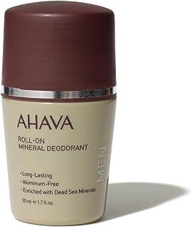 AHAVA Roll-On Men's Mineral Deodorant, 1.7 Fl Oz