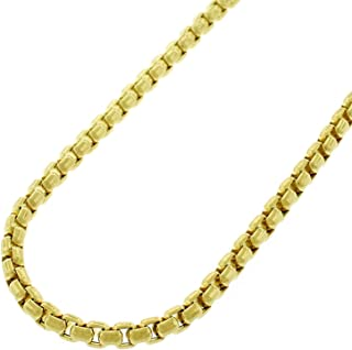 "14k Yellow Gold Round Box Cable Rolo Link Necklace Chains 2MM 2.5MM 3MM 3.5MM, 16"" - 30"", Real 14k Gold, Men & Women, In Style Designz"