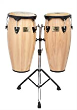 Tycoon Percussion 10 Inch & 11 Inch Congas Natural Finish With Double Stand