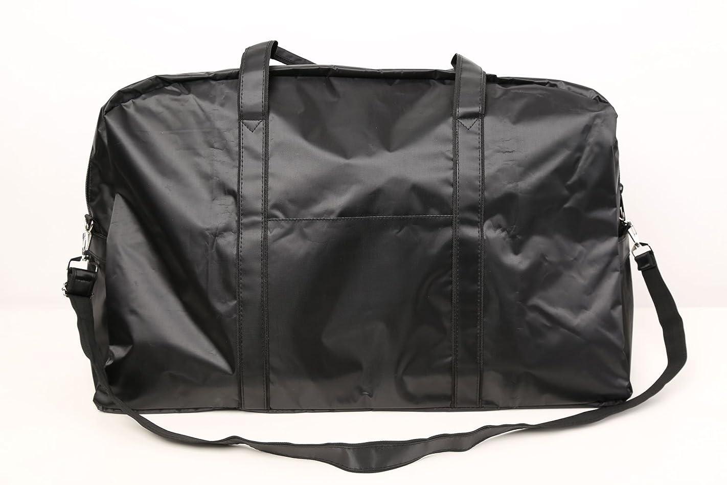 無意識たくさんのパラシュートカットウィッグ用バッグ 大容量 軽量 ナイロンバッグ ブラック XRDB-1