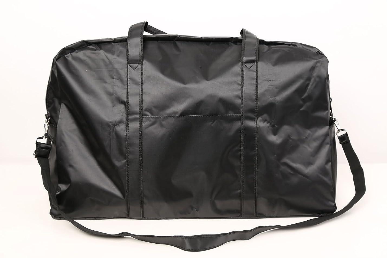ジャングル肌寒い習熟度カットウィッグ用バッグ 大容量 軽量 ナイロンバッグ ブラック XRDB-1