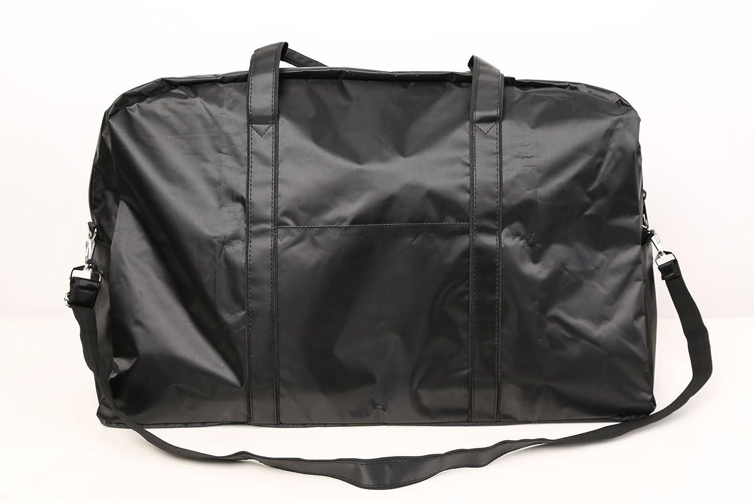 ダーツテレビ暴露カットウィッグ用バッグ 大容量 軽量 ナイロンバッグ ブラック XRDB-1