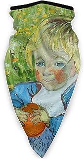 Maschere Viso Da Moto,Elmetto Magico,Fascia Collo Foulard,Fascia Scaldacollo Versatile,Fasce per La Testa All'Aperto,Van Gogh Baby Green Carino