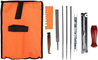 TOPINCN 10Pcs Chainsaw File Metal Tool Sharpening Kit Guide Bar Chain Set Portable Safer Work Contains Different Professional Tools