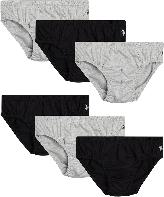 U.S. Polo Assn. Men's Underwear – Low Rise Briefs with Contour Pouch (6 Pack)