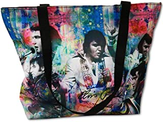 Elvis Presley Tote Bag Color Collage
