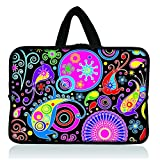 11.6' 12.1' 12.2' inch Neoprene Soft Chromebook Carrying bag Laptop Sleeve Case with Handle for Macbook Pro Air 11/Samsung Google 11.6' Chromebook/Acer C710 C720 C720P series ChromeBook/Samsung Chromebook 2/Dell Chromebook 11/Chromebook C200MA/HP Chromebook 11 - Colorful Paisley