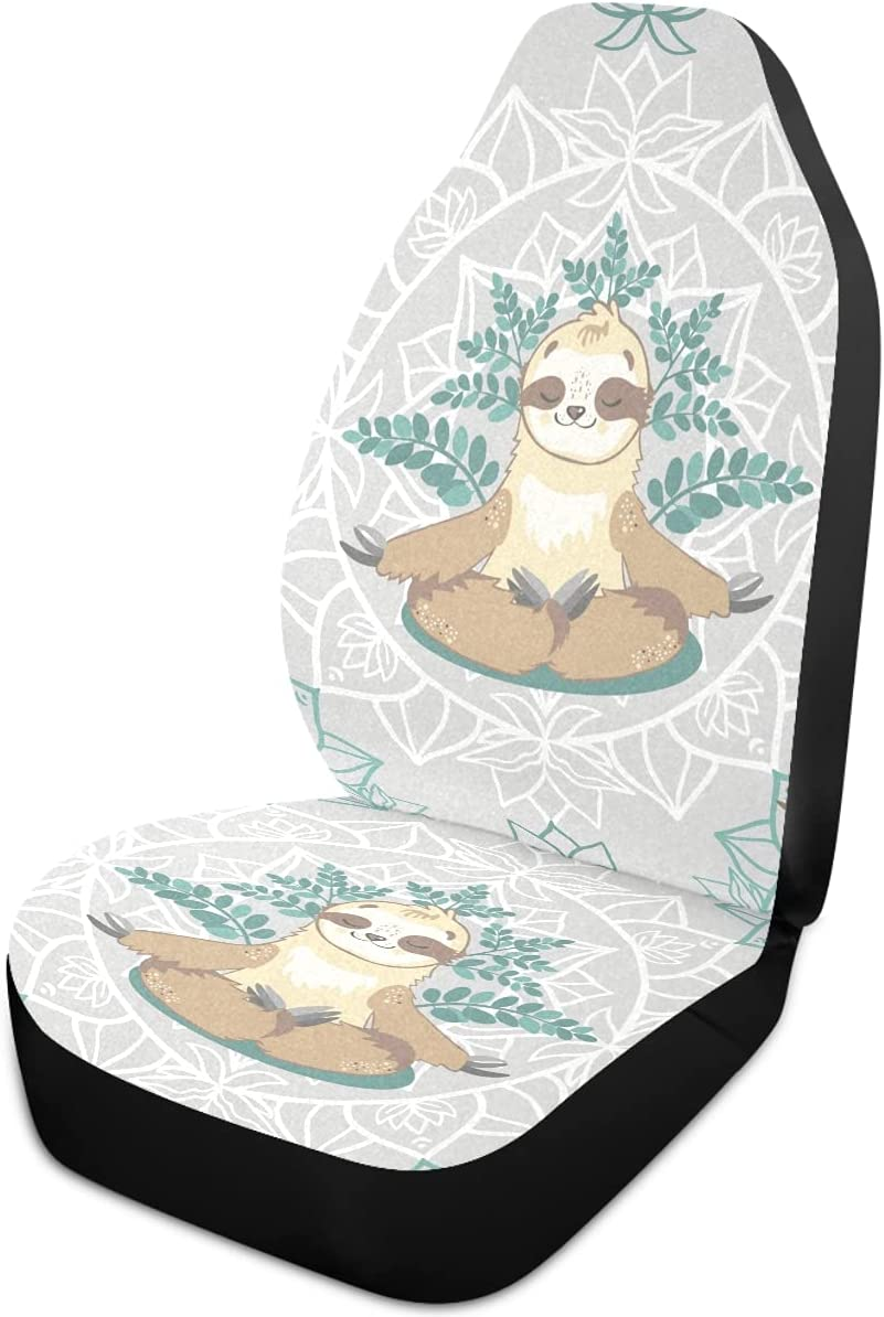 Oarencol Ranking TOP20 Cute Ranking TOP1 Sloth Yoga Car Flower Mandala Covers Universa Seat