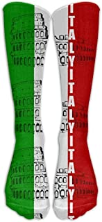 Lsjuee Donna Uomo Italia Bandiera italiana Colosseo romano Calze Calze Calze atletiche Calze lunghe Tutti gli sport Vacanz...