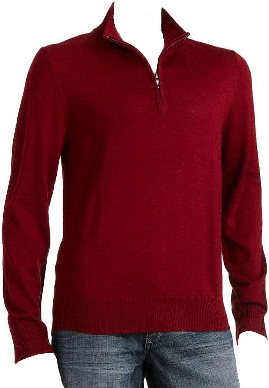 Liz Claiborne's Apt 9 Mens 1/4 Zip Sweater Merino Wool Blend Big & Tall Red