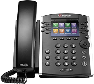 Polycom 2200-46157-025 VVX 400 IP Business PoE Telephone (Power supply not included) (Renewed)