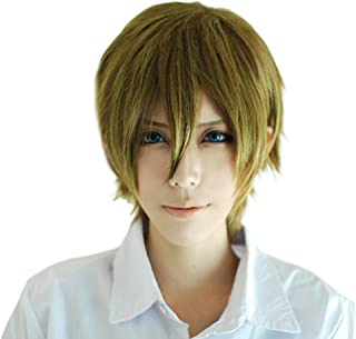 Nanase Haruka Cosplay Wig Xcoser Free! Dive to the Future Black Short Straight Hairs for Men