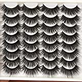 ALICROWN Mixed False Eyelashes Dramatic Thick Lightweight Handmade Soft Natural Look Volume Faux Mink Lashes 16 Pairs Pack
